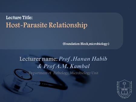 host parasite relationship in microbiology