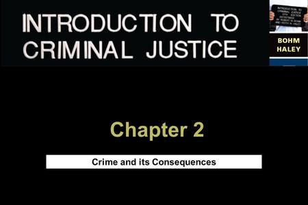 Chapter 2 Crime and its Consequences. Copyright © 2005 The McGraw-Hill Companies, Inc. All rights reserved. 2 Chapter Objectives After completing this.