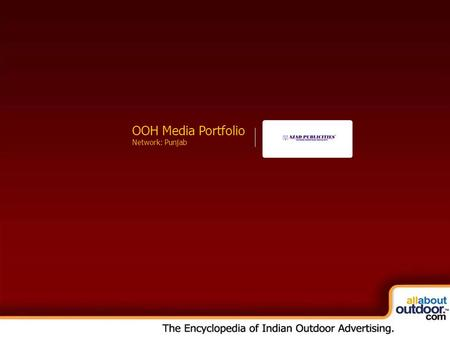 OOH Media Portfolio Network: Kolkata OOH Media Portfolio Network: Punjab.