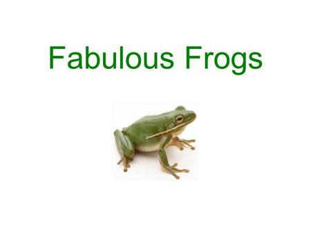 Fabulous Frogs. What Frogs are Like Frogs are amphibians. This means that they live part of their life in water and the other part of it on land. Amphibians.