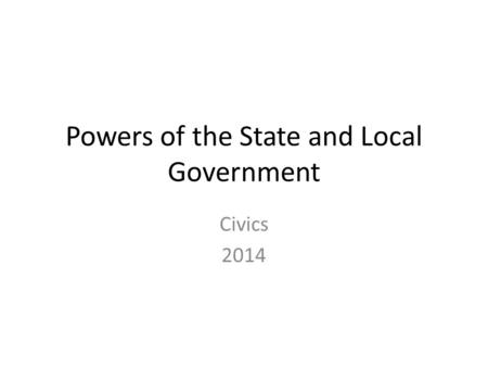 an analysis of state and local government