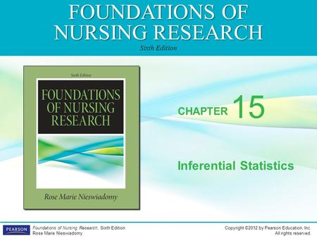 FOUNDATIONS OF NURSING RESEARCH Sixth Edition CHAPTER Copyright ©2012 by Pearson Education, Inc. All rights reserved. Foundations of Nursing Research,
