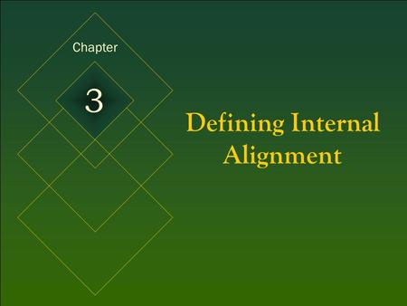 McGraw-Hill/Irwin © 2005 The McGraw-Hill Companies, Inc. All rights reserved. 3-1 Defining Internal Alignment Chapter 3.