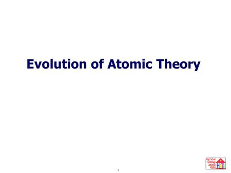 Evolution of the Atom 1 Evolution of Atomic Theory.