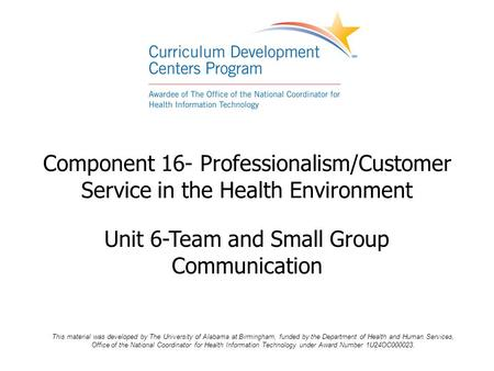 Unit 6-Team and Small Group Communication