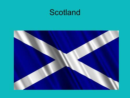 Scotland. Basic facts Its capital is Edinburgh. The flag is blue with a 2 white lines from corner to corner. Its Population is around 5.2 million Scotland.