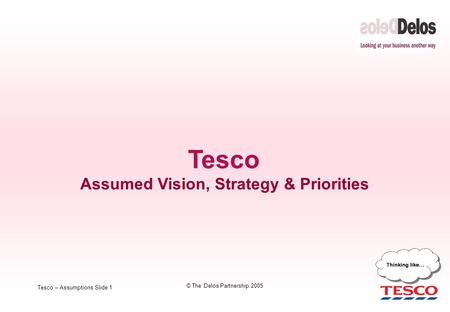 Assumed Vision, Strategy & Priorities