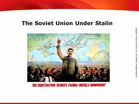 TEKS 8C: Calculate percent composition and empirical and molecular formulas. The Soviet Union Under Stalin.