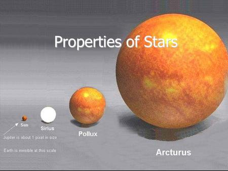 Properties of Stars.