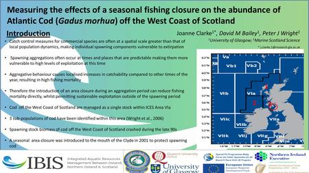 Measuring the effects of a seasonal fishing closure on the abundance of Atlantic Cod (Gadus morhua) off the West Coast of Scotland Joanne Clarke 1*, David.
