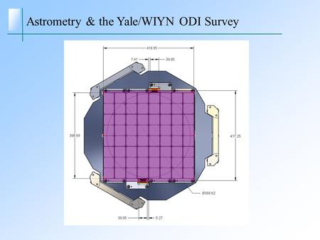 Astrometry & the Yale/WIYN ODI Survey. Potential astrometric projects Local luminosity function (van Altena, et al.) obtain  ≤ 0.10 parallaxes to 150.