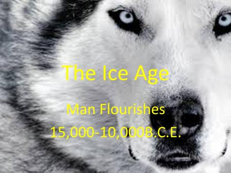 The Ice Age Man Flourishes 15,000-10,000B.C.E.. Essential Standard 6.H.2- Understand the political, economic and/or social significance of historical.