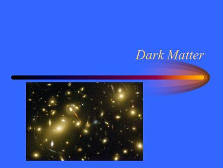 Dark Matter. Zwicky's Coma In 1933 Fred Zwicky measured the speed of Coma cluster galaxies. –Too fast for the visible stars –Cluster would fly apart Either.