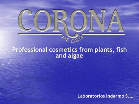 Professional cosmetics from plants, fish and algae Laboratorios Indermo S.L.