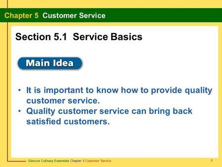 Section 5.1 Service Basics