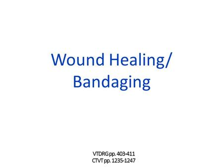 Wound Healing/ Bandaging. Learning Objectives  Describe the process of wound healing  List and describe the factors that affect wound healing  Discuss.