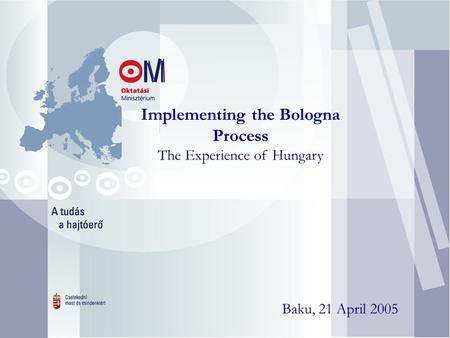 Implementing the Bologna Process The Experience of Hungary Baku, 21 April 2005.