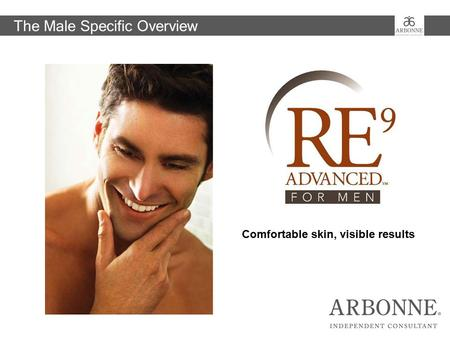 Visible Results in 24 hours. Comfortable skin, visible results The Male Specific Overview.
