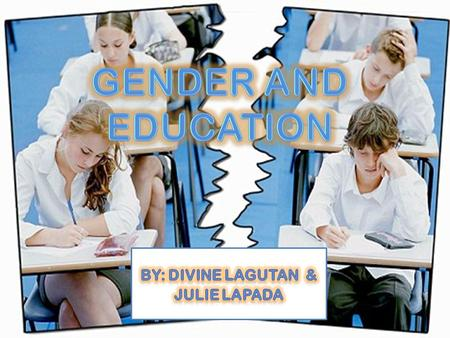Refers to the idea that the educational system does not offer the same type of opportunities for upward mobility to both genders equally. Sex Discrimination.