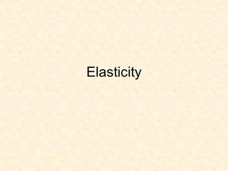 "Elasticity. Calculating the Arc Elasticity If E d > 1, demand is said to be ""price elastic"". If E d < 1, demand is said to be ""price inelastic""."