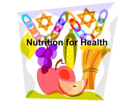 Nutrition for Health LHS.