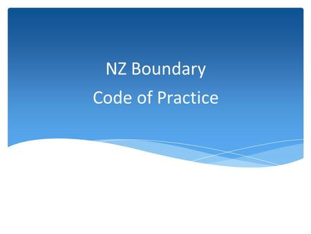 "Code of Practice NZ Boundary.  1961 Drinking Water Regulations covered Backflow but was loose.  ""At the discretion of the Engineer""  2013 Replacement."