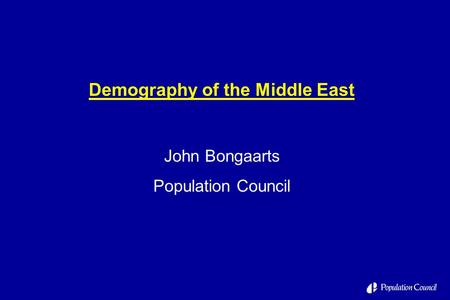 Demography of the Middle East
