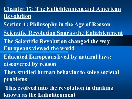 the age of enlightenment essay