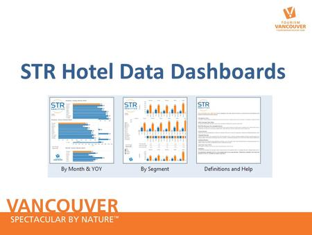 STR Hotel Data Dashboards. STR Dashboards – Hotel data These are interactive Tableau dashboards. Members can select: – year (2007 to 2014 YTD) and month/s.