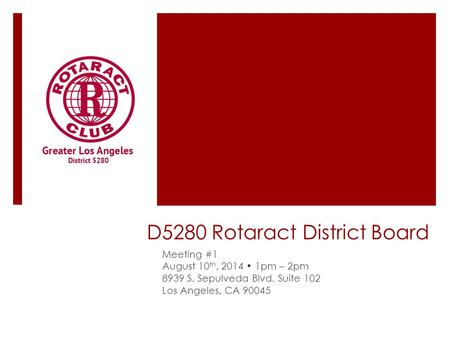 D5280 Rotaract District Board