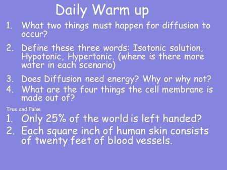Daily Warm up Only 25% of the world is left handed?
