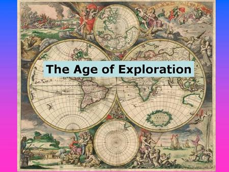"Directions for today. 1. On 107 write "" Unit 7 TOC"". NOTHING ELSE GOES ON THIS PAGE FOR NOW. 2. Turn to page 108. Title it ""The Age of Exploration and."