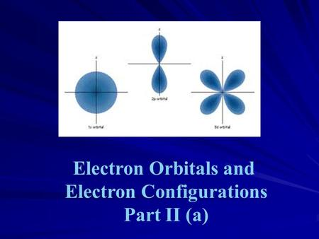 Electron Orbitals and Electron Configurations Part II (a)