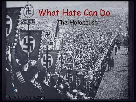 What Hate Can Do The Holocaust C. A. Lawrence, 2001.