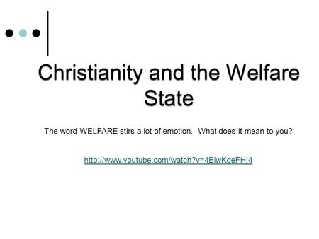 The word WELFARE stirs a lot of emotion. What does it mean to you?