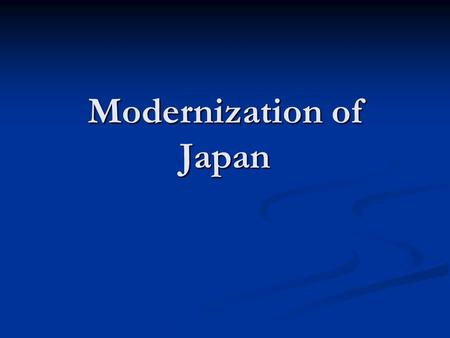 Modernization of Japan. European traders first came to the island country in the 1500s. European traders first came to the island country in the 1500s.