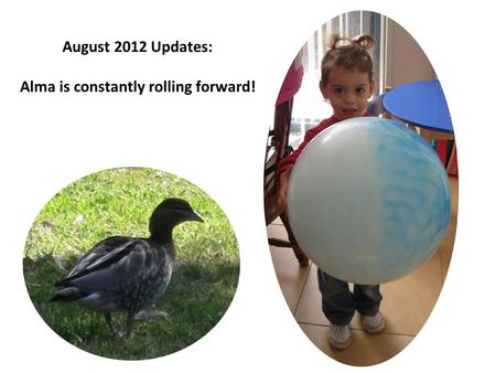 August 2012 Updates: Alma is constantly rolling forward!