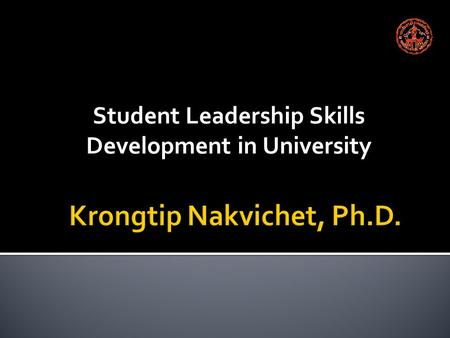 Student Leadership Skills Development in University.