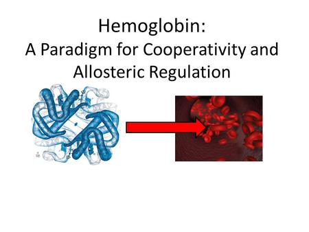 Hemoglobin: A Paradigm for Cooperativity and Allosteric Regulation.
