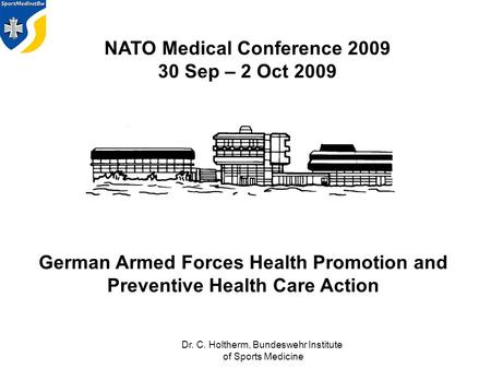 German Armed Forces Health Promotion and Preventive Health Care Action