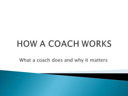 What a coach does and why it matters.  When is the last time someone completely listened to you so perfectly that you felt fully heard? When a coach.