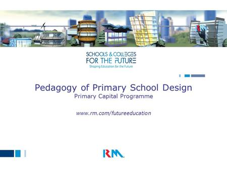 Pedagogy of Primary School Design Primary Capital Programme www.rm.com/futureeducation.