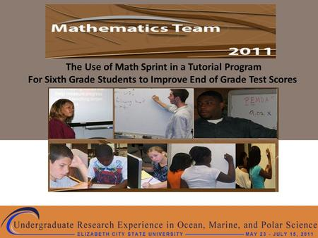 The Use of Math Sprint in a Tutorial Program For Sixth Grade Students to Improve End of Grade Test Scores.