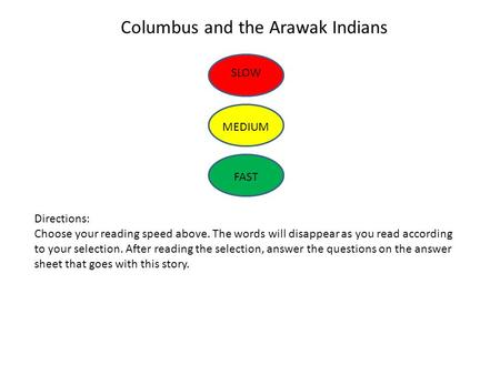 Columbus and the Arawak Indians