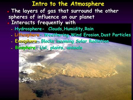 Intro to the Atmosphere