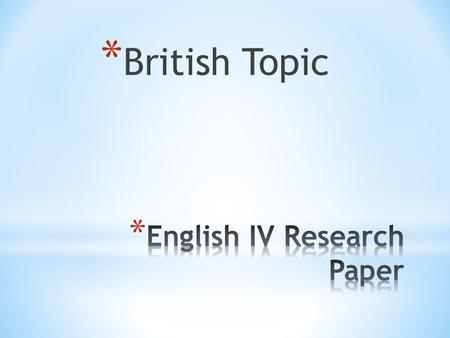 Topics For An Argumentative Research Paper