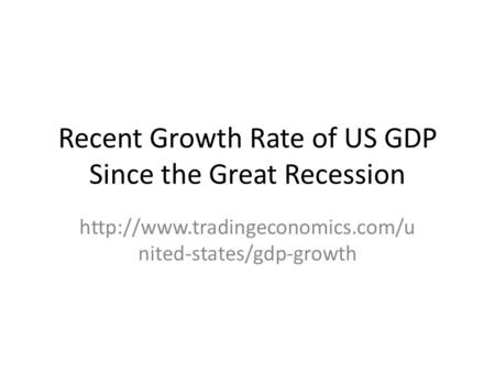 Recent Growth Rate of US GDP Since the Great Recession  nited-states/gdp-growth.