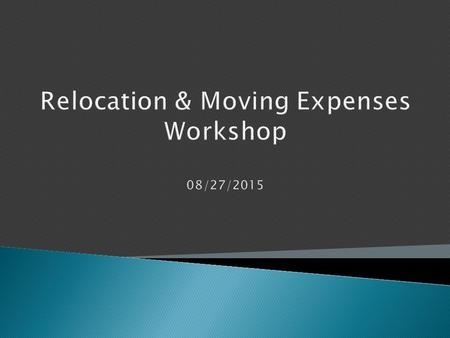  Relocation Overview  Policy & Procedure Changes  UGAmart Demo  Q & A.