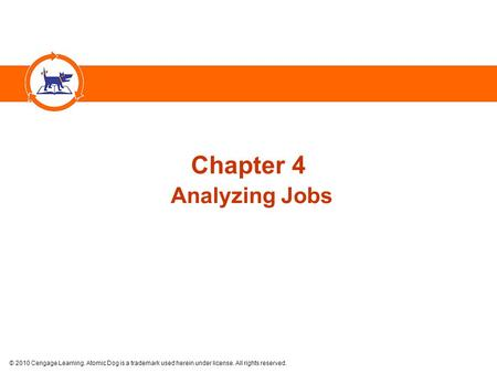 © 2010 Cengage Learning. Atomic Dog is a trademark used herein under license. All rights reserved. Chapter 4 Analyzing Jobs.