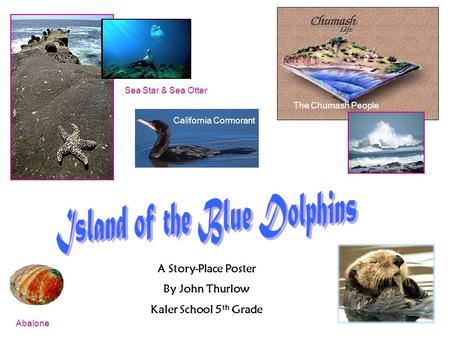 California Cormorant Sea Star & Sea Otter Abalone A Story-Place Poster By John Thurlow Kaler School 5 th Grade The Chumash People.